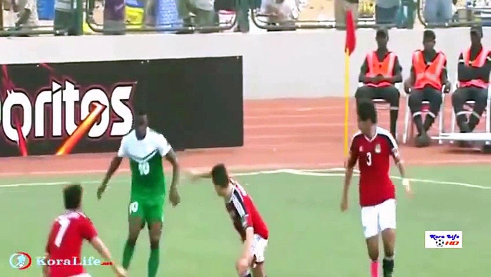 أهداف مباراة منتخب مصر الأولمبي ونيجيريا كاملة 2 2 في أمم إفريقيا تحت 23 سنة 2122015