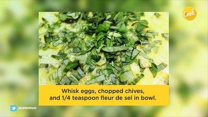 Scrambled eggs with  fresh ricotta