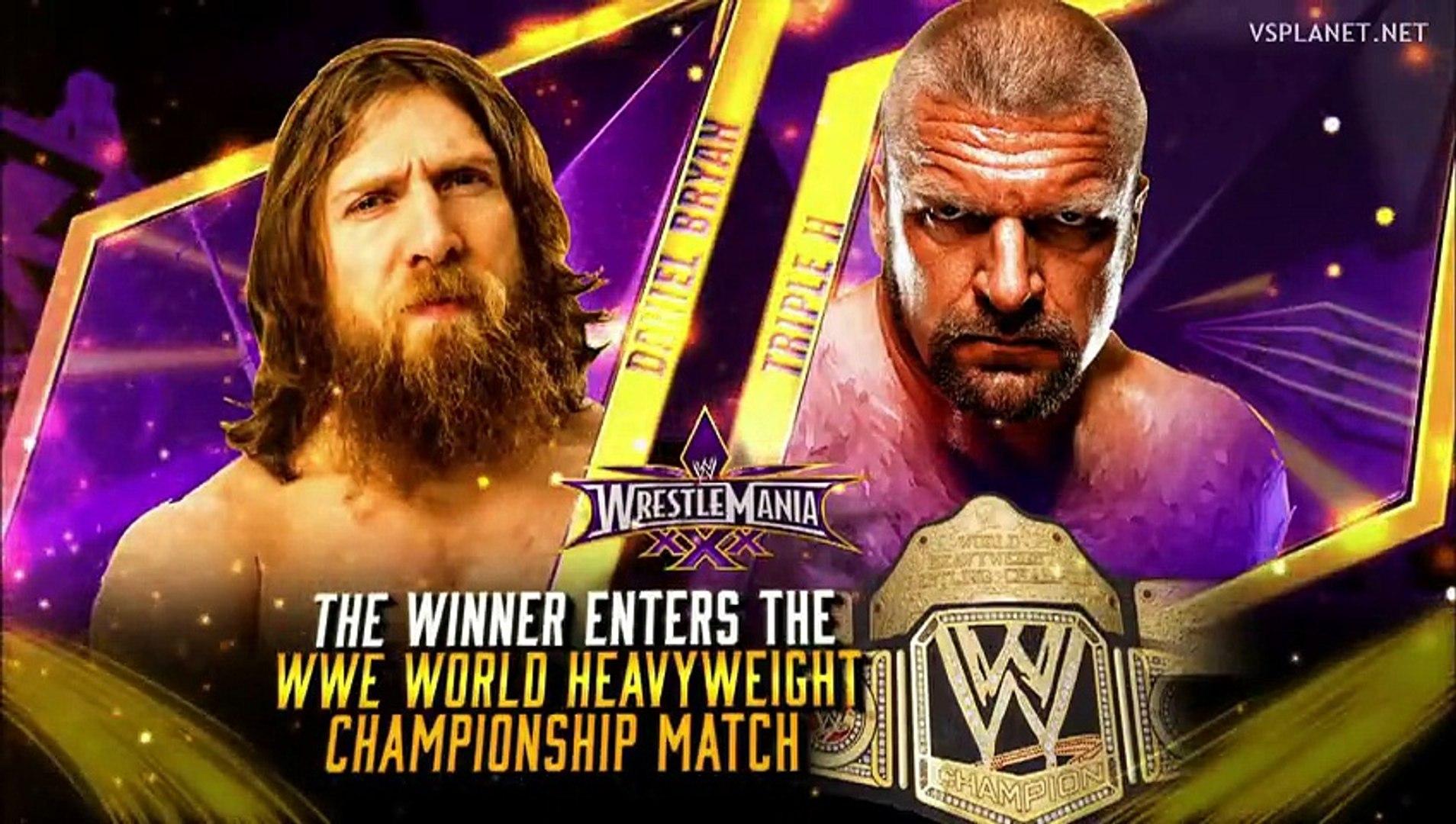Daniel Bryan vs Triple H - Wrestlemania 30 - video Dailymotion