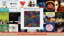 Download  Worship Solos for Singers Low Voice Edition with CD of Piano Accompaniments PDF Free