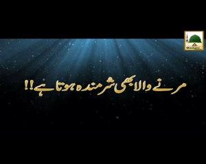 Marnay Wala Bhi Sharminda - Maulana Ilyas Qadri - Short Speech