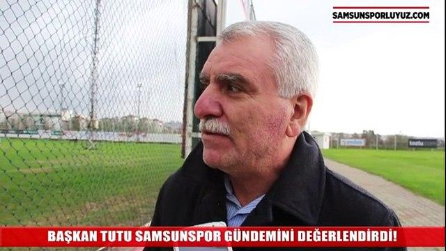 SAMSUNSPOR BAŞKANI ERKURT GÜNDEMİ DEĞERLENDİRDİ - 02122015TUTU