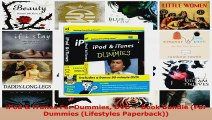 Read  iPod  iTunes For Dummies DVD  Book Bundle For Dummies Lifestyles Paperback EBooks Online