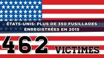 États-Unis: Plus de 350 fusillades enregistrées en 2015