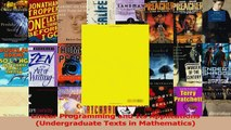 Download  Linear Programming and Its Applications Undergraduate Texts in Mathematics Ebook Online