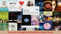 Download  Concise Managerial Statistics Book Only Ebook Free