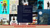 Read  Measures of Political Attitudes Measures of Social Psychological Attitudes Ebook Free