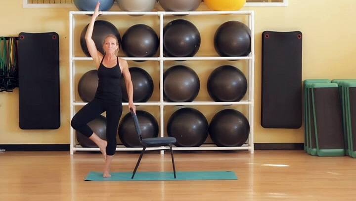 How to Use a Chair While Doing Yoga Poses