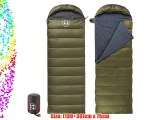 Naturehike Eiderdown Camping Sleeping Bag Envelope Sleeping Bag Down Sleeping Bag(Army green)