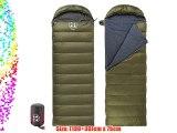 Naturehike Eiderdown Camping Sleeping Bag Envelope Sleeping Bag Down Sleeping Bag(Army green)