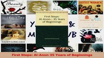 PDF Download  First Steps AlAnon 35 Years of Beginnings PDF Online