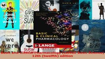 PDF Download  Basic and Clinical Pharmacology LANGE Basic Science 12th twelfth edition Download Online