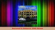 PDF Download  Burnout to Balance EMS Stress PDF Full Ebook