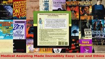 Read  Medical Assisting Made Incredibly Easy Law and Ethics PDF Online