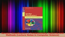 Read Speaker Classification I: Fundamentals Features and