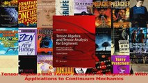 Download  Tensor Algebra and Tensor Analysis for Engineers With Applications to Continuum Mechanics Ebook Online