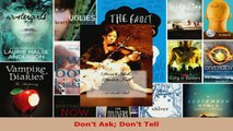 Read  Dont Ask Dont Tell EBooks Online