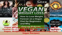 Download  Vegan Weight Loss For Life How to Lose Weight Forever On A Vegan Diet for Beginners  Why PDF Free