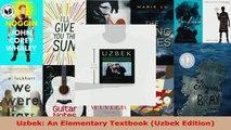 Read  Uzbek An Elementary Textbook Uzbek Edition Ebook Free
