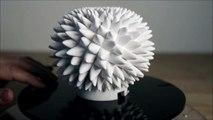 Sculptures 3D animées hypnotisantes - Blooms by John Edmark