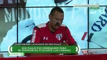Luis Fabiano: 'Se estou dentro do campo, estou com meus companheiros até a morte'