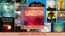 Read  ICD10CM and ICD10PCS Coding Handbook with Answers 2016 Rev Ed EBooks Online