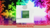 Scope and Standards of Practice for Professional Telehealth Nursing Download