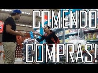 COMENDO COMPRAS DE ESTRANHOS