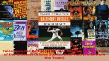Read  Tales from the Baltimore Orioles Dugout A Collection of the Greatest Orioles Stories Ever PDF Online