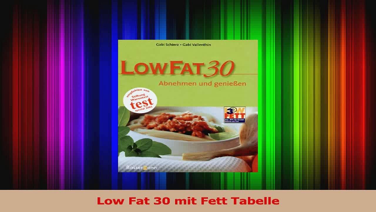 Low Fat 30 Tabelle Ampel