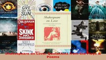 Read  Shakespeare on Love Quotations from the Plays  Poems Ebook Free