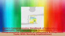 Daviss Comprehensive Handbook of Laboratory and Diagnostic Tests With Nursing PDF