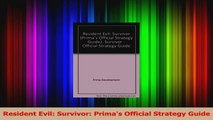 Download  Resident Evil Survivor Primas Official Strategy Guide PDF Free