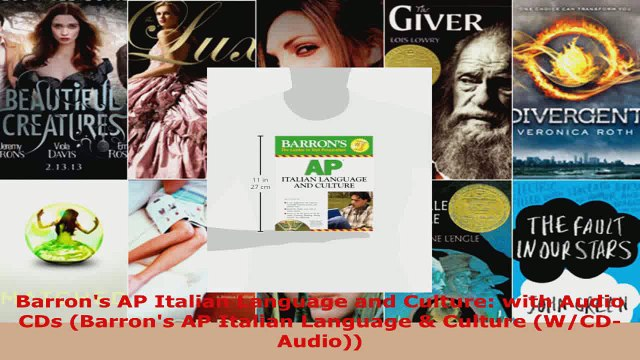 Download  Barrons AP Italian Language and Culture with Audio CDs Barrons AP Italian Language  EBooks Online