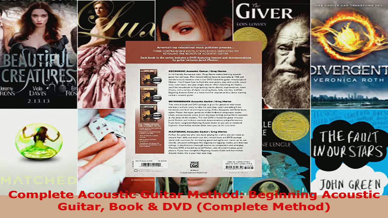 Read  Complete Acoustic Guitar Method Beginning Acoustic Guitar Book  DVD Complete Method Ebook Free
