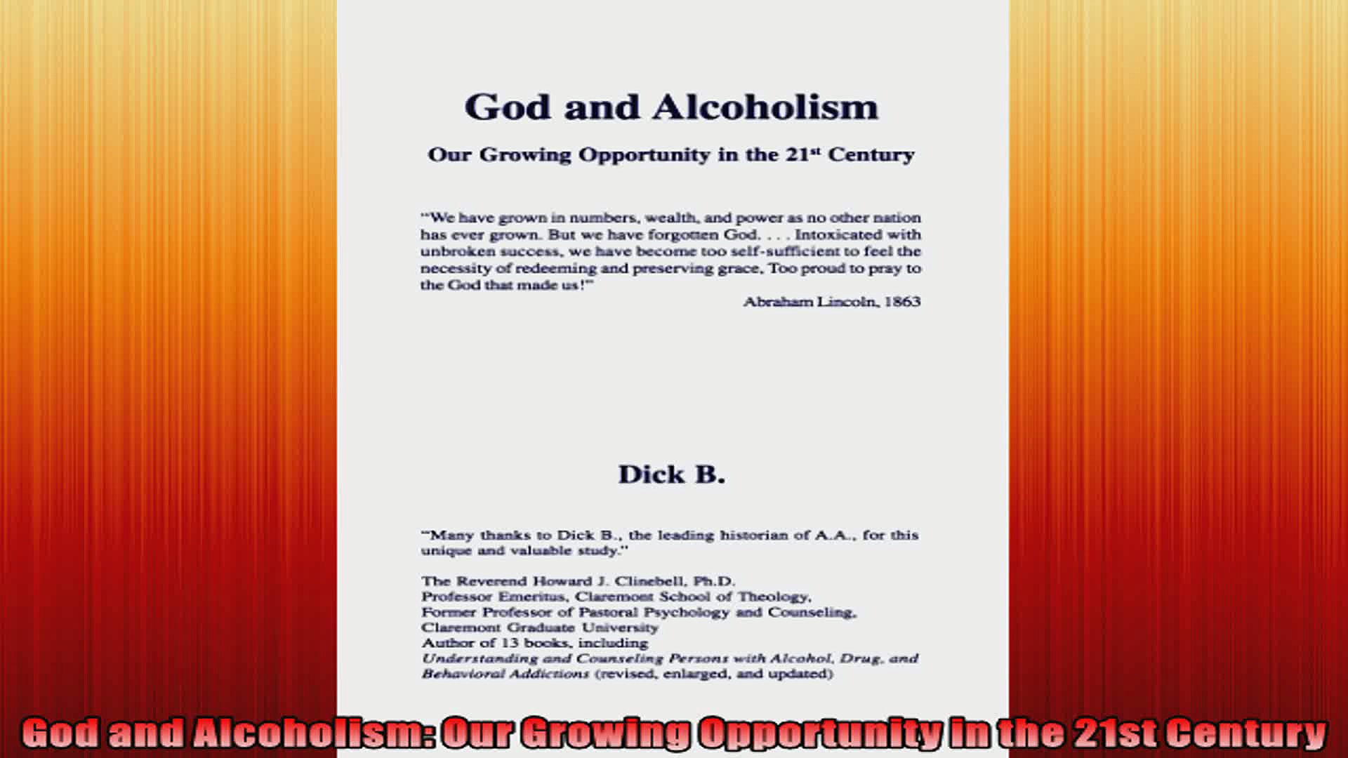 God and Alcoholism Our Growing Opportunity in the 21st Century