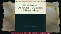 First Steps AlAnon 35 Years of Beginnings