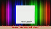 Psychosocial Care Plans for Long Term Care Social Service Care Plans and Forms PDF