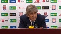 Stoke City 2-0 Manchester City - Manuel Pellegrini Post Match Interview 05.12.2015 HD