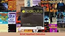 Read  Brief Applied Calculus PDF Online