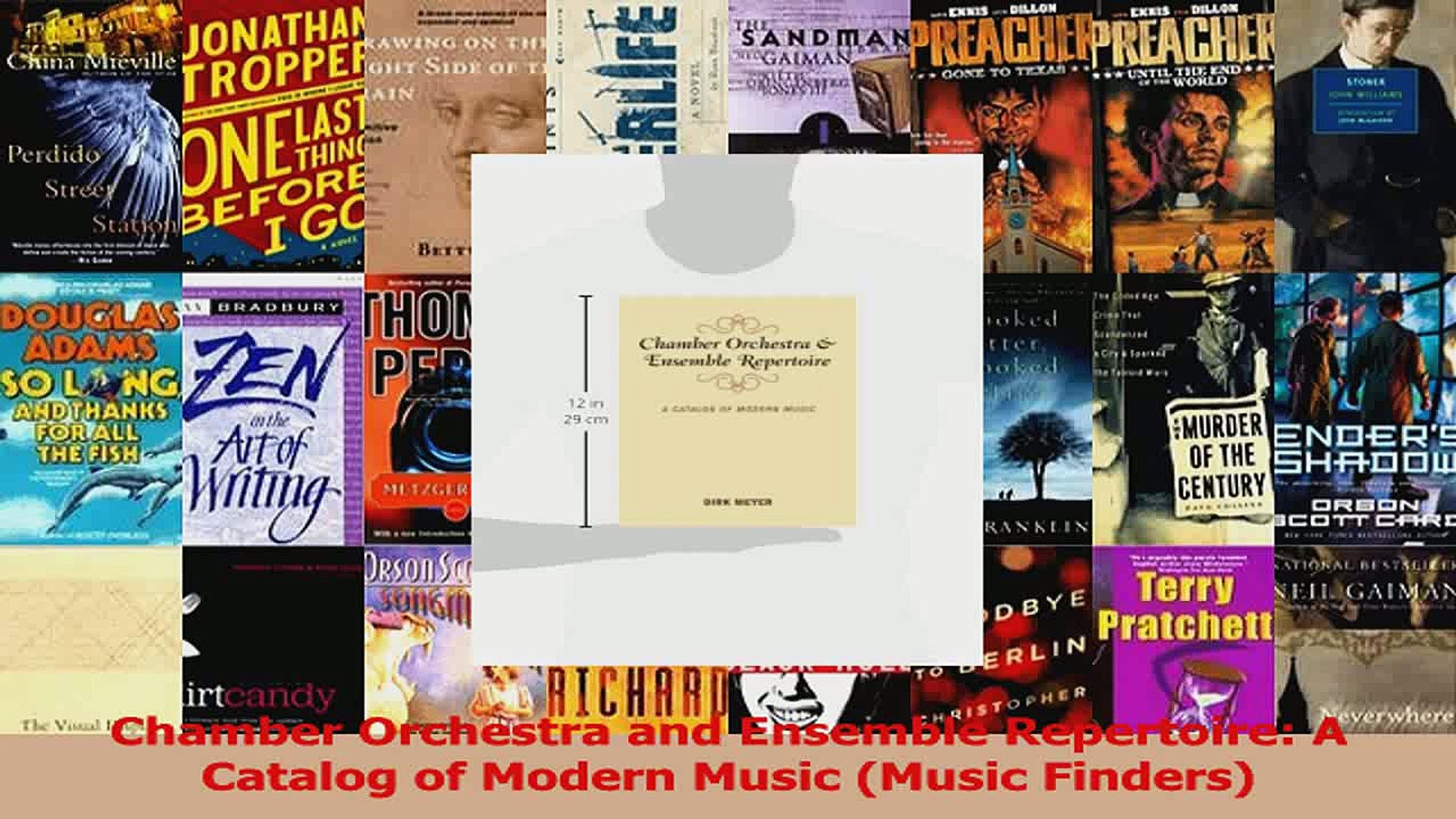 PDF Download  Chamber Orchestra and Ensemble Repertoire A Catalog of Modern Music Music Finders Down