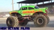 best monster trucks videos, amazing monster trucks jump over the small car, monster truck