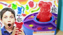 WORLDS LARGEST GUMMY BEAR ! DIY Gummy Factory GIANT GUMMY BEAR Gummy Worms Fruit Gummy Bear Maker
