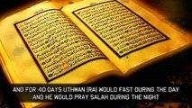 final moments of uthman ibn affan RA
