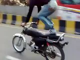 Dangerous bike accident very dangerous wheeling Accident