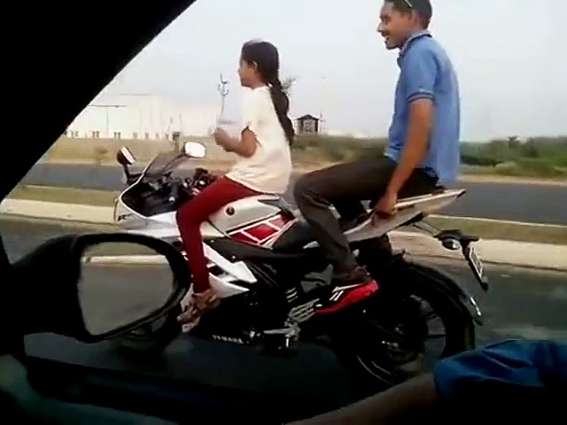 Funny Girl Bike Riding
