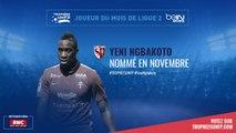 Ligue 2 / Trophées UNFP - Joueurs du mois : Yéni N'Gbakoto