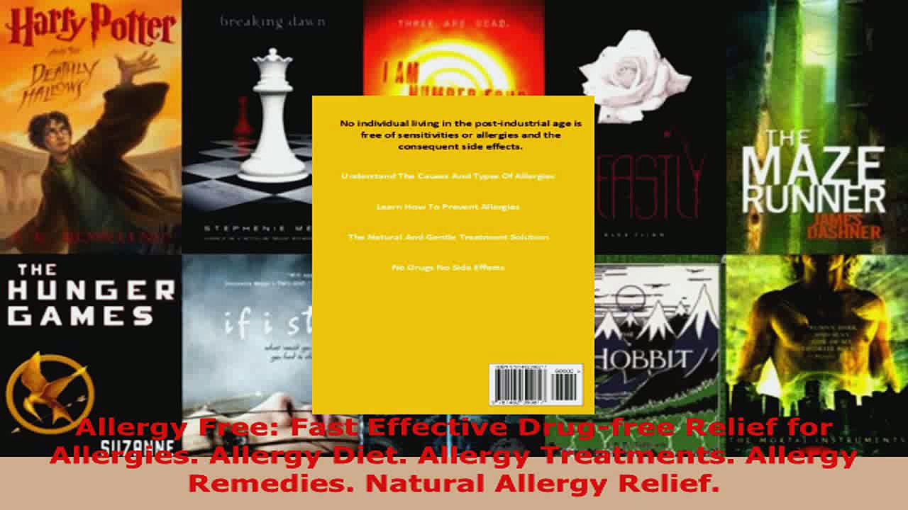 Read  Allergy Free Fast Effective Drugfree Relief for Allergies Allergy Diet Allergy EBooks Online