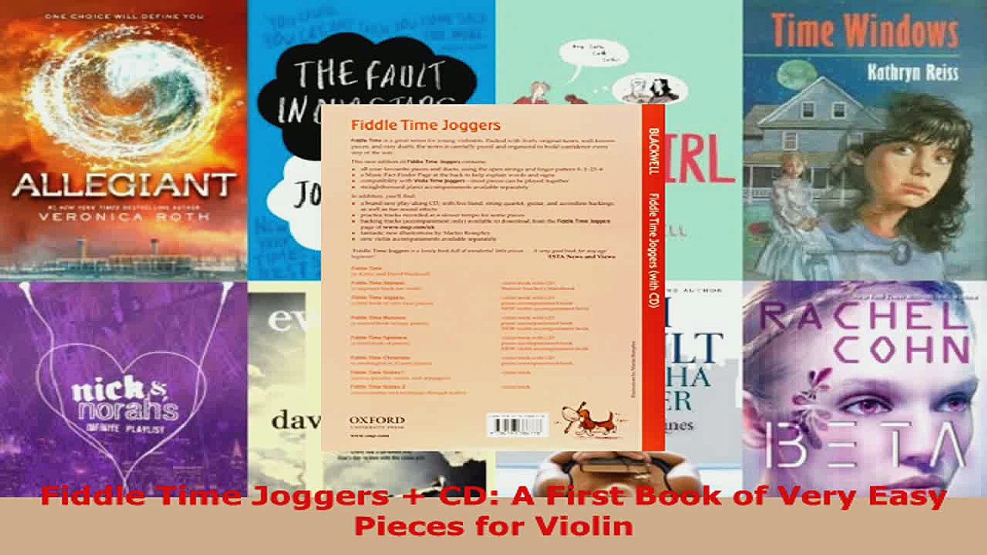 Download Fiddle Time Joggers CD A First Book of Very Easy Pieces for Violin  PDF Online