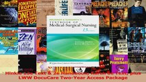 Hinkle 13e Text  2e Handbook Karch 6e Text plus LWW DocuCare TwoYear Access Package Download
